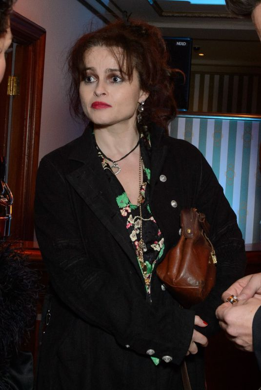 HELENA BONHAM CARTER at Hamilton Musical Press Night in London 12/21/2017