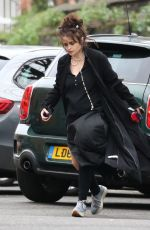 HELENA BONHAM CARTER Out and About in London 12/24/2017