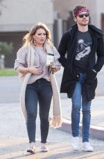 HILARY DUFF and Matthew Koma Out for Coffee in Studio City 12/05/2017