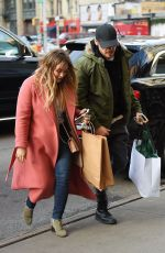 HILARY DUFF and Matthew Koma Out Shopping in New York 12/19/2017