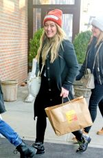 HILARY DUFF Arrives at Her Hotel in New York 12/20/2017