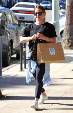 HILARY DUFF Leaves a Gym in Los Angeles 12/07/2017
