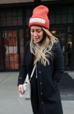 HILARY DUFF Leaves Her Hotel in New York 12/20/2017