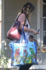 HILARY DUFF Out for Iced Coffee in Studio City 12/01/2017