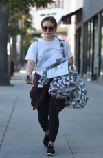 HILARY DUFF Out Shopping in Los Angeles 12/08/2017