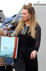 HILARY DUFF Out Shopping in Los Angeles 12/23/2017