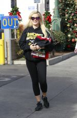 HOLLY MADISON Out Shopping in Los Angeles 12/11/2017