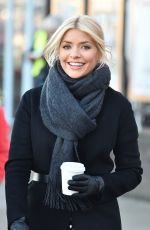 HOLLY WILLOGHBY on the Set of This Morning in London 12/12/2017