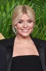 HOLLY WILLOUGHBY at British Fashion Awards 2017 in London 12/04/2017