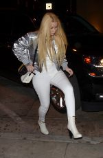 IGGY AZALEA Out for Dinner with Nick Young in West Hollywood 12/17/2017