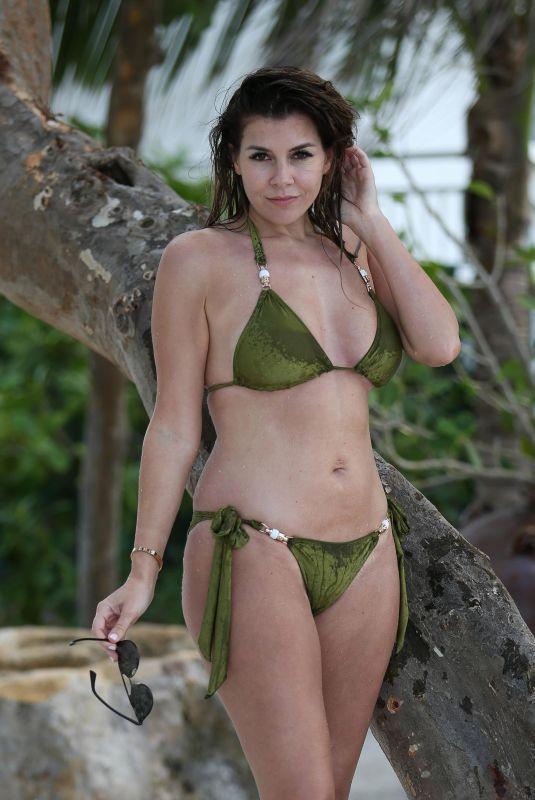 IMOGEN THOMAS in Bikini at a Beach in Miami 12/16/2017