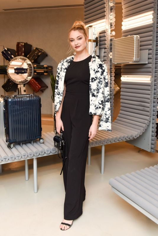 INDIA GANTS at Rimowa x Alexandre Arnault Pop-up Event in Los Angeles 12/12/2017