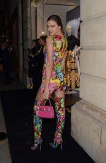 IRINA SHAYK Arrives at Versace London Sloane Street Launch 12/05/2017