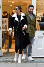 IRINA SHAYK Out Shopping in London 12/05/2017