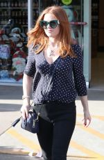 ISLA FISHER Out Shopping in Beverly Hills 12/08/2017