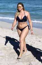 ISKRA LAWRENCE in Bikini at a Beach in Miami 12/11/2017