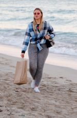 ISKRA LAWRENCE Out at a Beach in Miami 12/10/2017