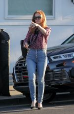 ISLA FISHER in Jeans Out in Beverly Hills 12/01/2017