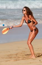 IZABEL GOULART and Kevin Trapp at Cacimba Do Padre Beach in Fernando De Noronha 12/30/2017