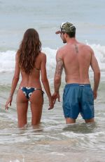IZABEL GOULART and Kevin Trapp on the Beach in Fernando De Noronha 12/29/2017