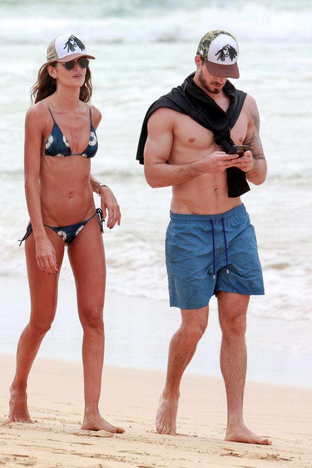 Izabel Goulart in Bikini and Kevin Trapp on the beach in Fernando de Noronha Pic 22 of 35