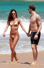 IZABEL GOULART in Bikini and Kevin Trapp at a Beach in Brazil 12/25/2017