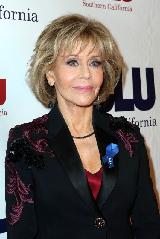 JANE FONDA at Aclu Socal's Annual Bill of Rights Dinner in Los Angeles 12/03/2017