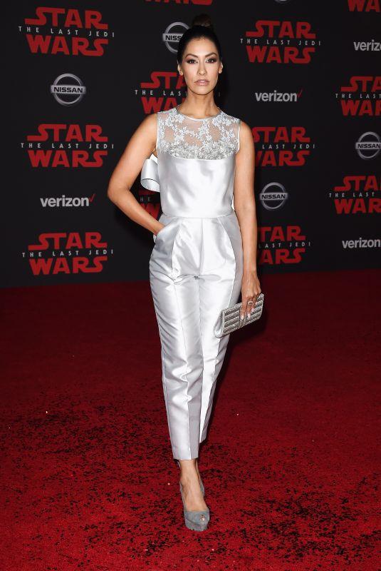 JANINA GAVANKAR at Star Wars: The Last Jedi Premiere in Los Angeles 12/09/2017