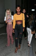 JASMINE TOOKES and SHANINA SHAIK Night Out in West Hollywood 12/22/2017