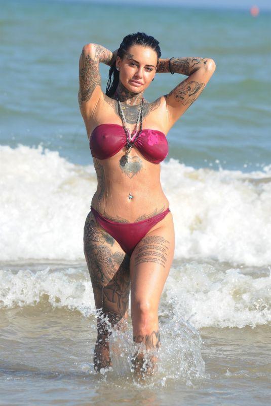 JEMMA LUCY in Bikini on the Beach in Gran Canaria 12/30/2017