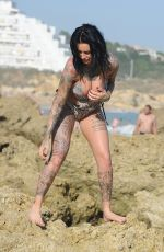 JEMMA LUCY in Swimsuit on Holiday in Gran Canaria 12/24/2017