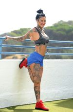 JEMMA LUCY Working Out on Holiday in Gran Canaria 12/27/2017