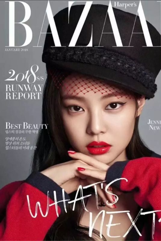 JENNIE from Blackpink for Harper's Bazaar Magazine, January 2018
