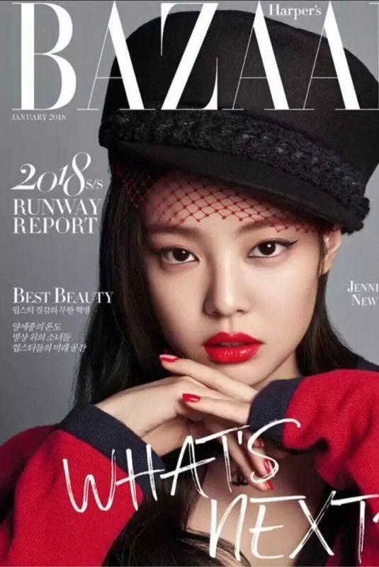 JENNIE from Blackpink for Harper's Bazaar Magazine, January 2018