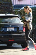 JENNIFER GARNER Arrives at a Gym in Brentwood 12/02/2017