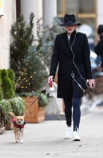 JENNIFER LARENCE Out Walks Her Dog in New York 12/18/2017