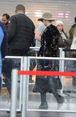 JENNIFER LAWRENCE with Her Dog at JFK Airport in New York 12/30/2017