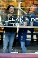 JENNIFER LOPEZ and VANESSA HUDGENS at Dean and Deluca on the Set of Second Act in New York 12/07/2017