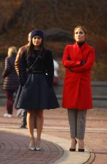 JENNIFER LOPEZ and VANESSA HUDGENS on the Set of Second Act in New York 12/04/2017