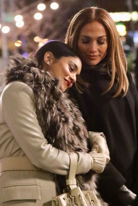 JENNIFER LOPEZ and VANESSA HUDGENS on the Set of Second Act in New York 12/08/2017