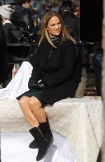 JENNIFER LOPEZ on the Set of Second Act in Central Park in New York 12/04/2017