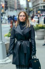 JENNIFER LOPEZ on the Set of Second Act in New York 12/08/2017