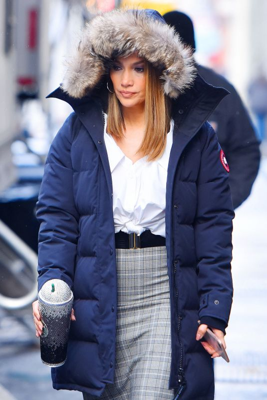 JENNIFER LOPEZ on the Set of Second Act in New York 12/14/2017