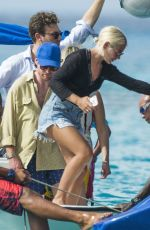 JESS WOODLEY at a Boat in Barbados 12/28/2017