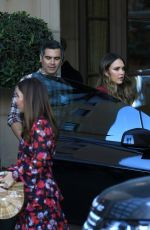 JESSICA ALBA and Cash Warren Leaves a Party in Beverly Hills 12/17/2017