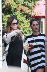 JESSICA ALBA and OLIVIA MUNN Out for Lunch in Beverly Hills 12/18/2017