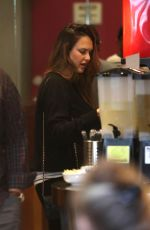 JESSICA ALBA at Cabbage Patch Restaurant in Beverly Hills 12/20/2017