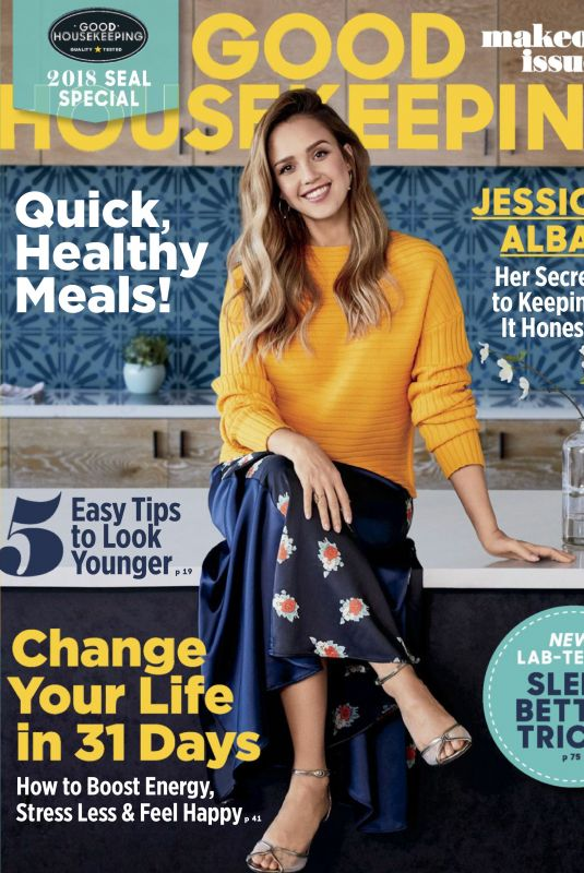 JESSICA ALBA in Good Housekeeping Magazine, January 2018 Issue