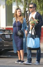 JESSICA ALBA Out and About in West Hollywood 12/16/2017