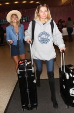JESSICA and ASHLEY HART at LAX Airport in Los Angeles 12/15/2017